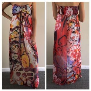 Xhilaration Strapless Colorful Maxi M